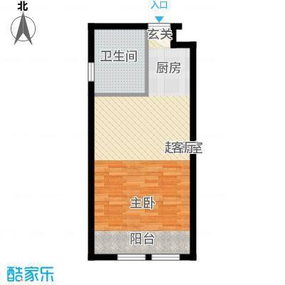 中海御湖翰苑A户型 45.48-45.56平米户型