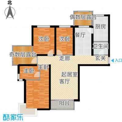 金屋秦皇半岛138.42㎡瞰海26#A户型3室2厅2卫