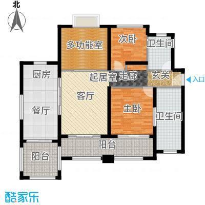 万科双月湾136.00㎡C型户型3室2厅2卫