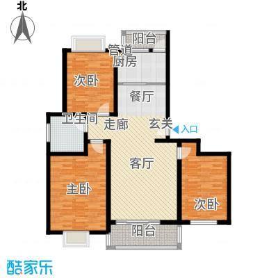 天业盛世龙城118.00㎡三室两厅一卫户型3室2厅1卫
