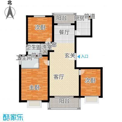 天业盛世龙城135.00㎡三室两厅两卫户型3室2厅2卫
