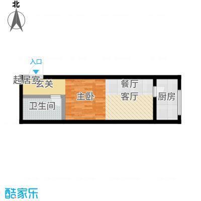 华夏世纪广场户型1卫1厨