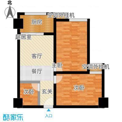 华夏世纪广场户型3室1厨