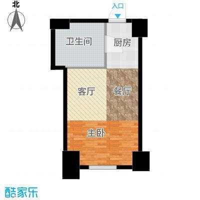 胜中尚东水润50.00㎡C户型1室1厅1卫