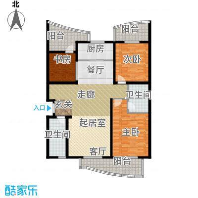 MOMOPARK141.83㎡1#E户型3室2厅2卫