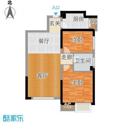 荔城公馆88.12㎡5号楼D2户型2室2厅1卫