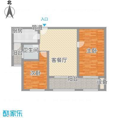 星光耀广场C2户型两室两厅一卫 建筑面积约110㎡户型