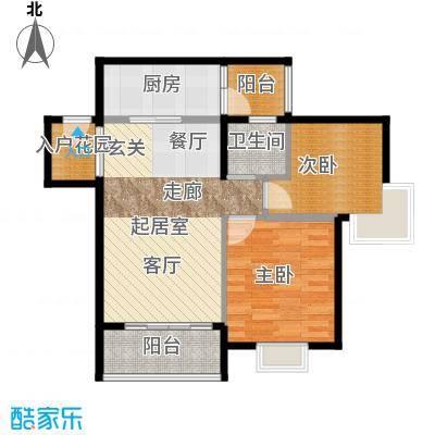 南沙紫茗花园68.05㎡06栋05户型2室1卫1厨