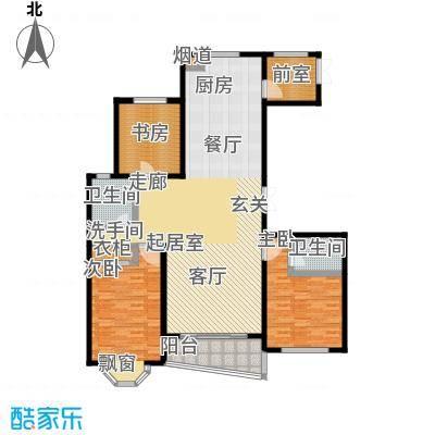 帝景豪庭户型3室2卫