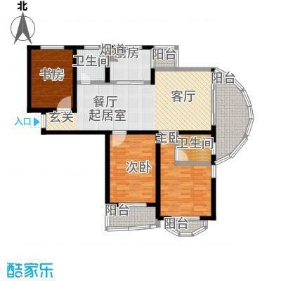 帝景豪庭户型3室2卫1厨