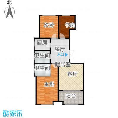 浦园89.30㎡2、6号楼边套C1户型3室2厅2卫