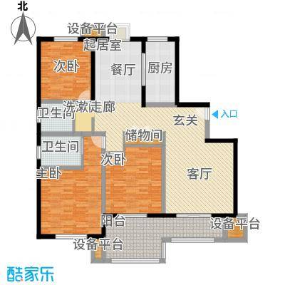 水岸豪庭东苑144.00㎡奢适三房户型3室2厅2卫