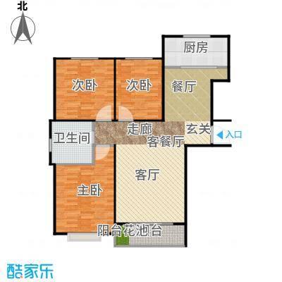 泰丰首府110.00㎡F1户型面积约110平户型3室2厅1卫