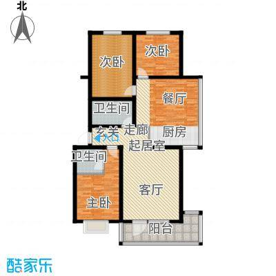 东润豪景155.00㎡9号楼155平米户型3室2厅2卫