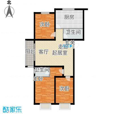 东润豪景138.38㎡8号楼138.38平米户型3室1厅2卫