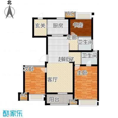 万科金色913楼标准面积:140.002户型3室2厅2卫-T