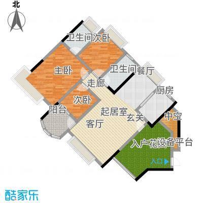 中澳春城110.00㎡12栋04户型110平米三房户型CC