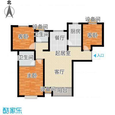 塞纳世家128.00㎡F户型3室2厅2卫