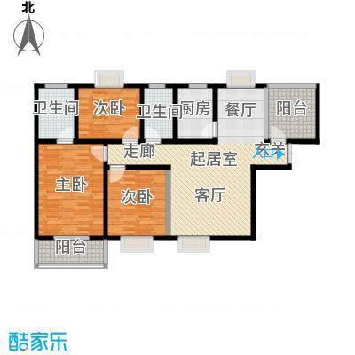 高新领域137.00㎡137平米三室两厅两卫户型