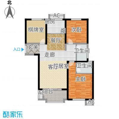 东方米兰国际城东方米兰国际城 127.2平米 三室两厅两卫户型3室2厅2卫