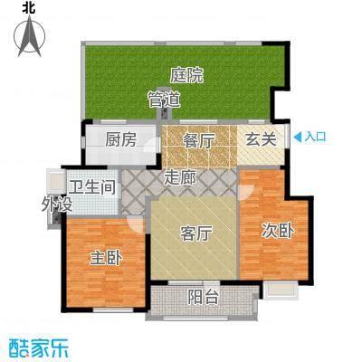 亿城叠山院103.00㎡2室2厅1卫1厨户型2室2厅1卫