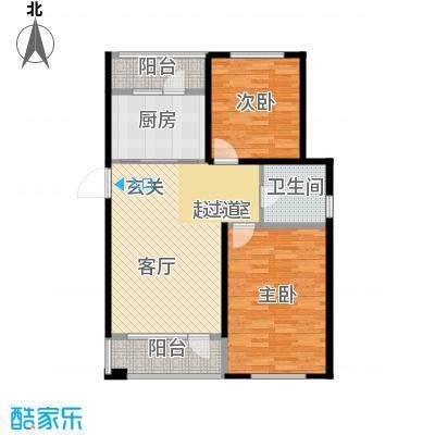 建荣皇家海岸100.00㎡二室二厅一卫户型