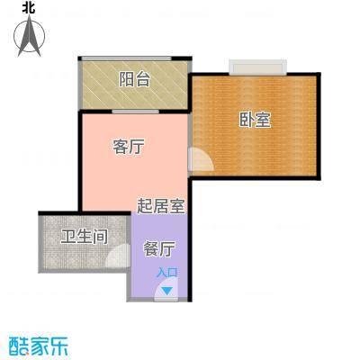 天玺国际46.00㎡46平米1室1厅1厨1卫户型