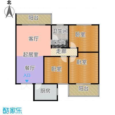 天玺国际116.00㎡116平米三室两厅一卫户型