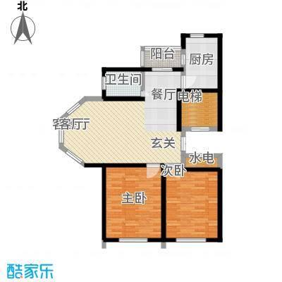 建荣皇家海岸101.00㎡二室二厅一卫户型