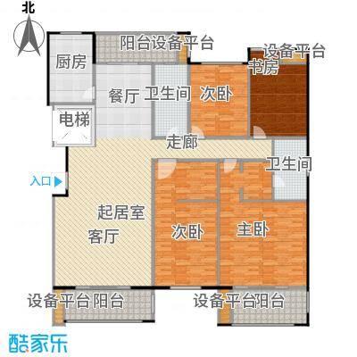 金鼎湾国际204.00㎡F户型4室2厅2卫