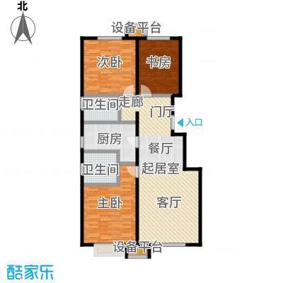 润达万科金域蓝湾111.00㎡A户型 三室两厅两卫 111平米户型3室2厅2卫