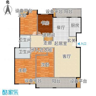 金鼎湾国际182.00㎡C户型4室2厅2卫