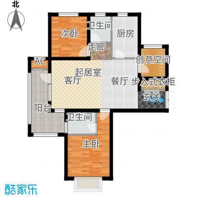中铁秦皇半岛103.00㎡一期A-1户型2室2厅2卫QQ