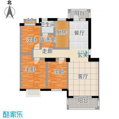 天籁华都115.00㎡115平米户型3室2厅1卫