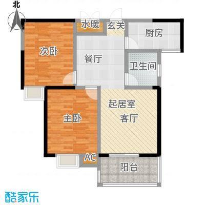 龙翔・中央公馆CC户型2室1卫1厨