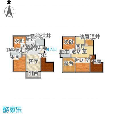 新港清华苑户型5室3卫1厨
