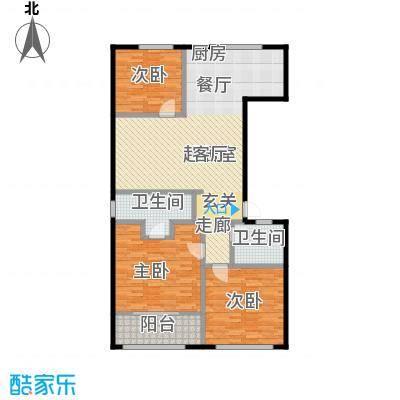 协众财富广场123.00㎡户型3室2卫