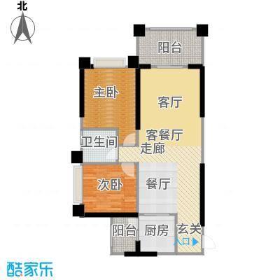 敏捷绿湖国际城户型2室1厅1卫1厨