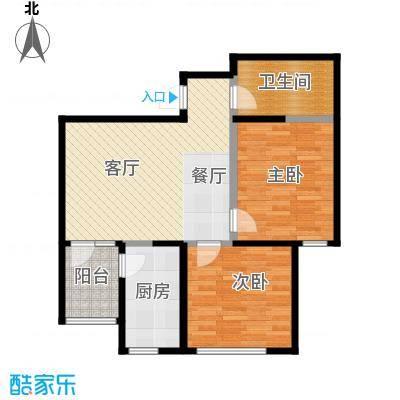 金业缇香山76.00㎡户型2室2厅1卫
