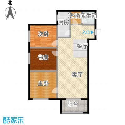 金业缇香山105.00㎡户型3室2厅1卫
