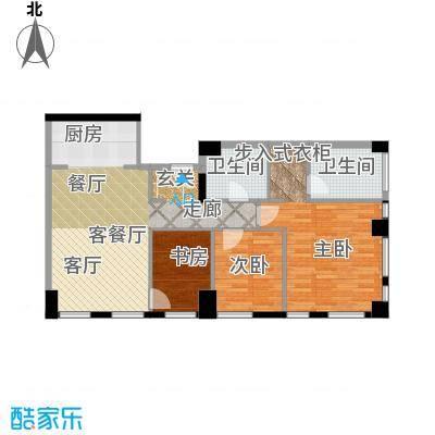 天津科技广场C户型 三室二厅二卫户型