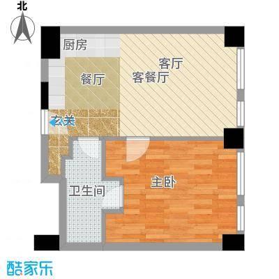 天津科技广场68.00㎡户型B1A 一室一厅一卫户型1室1厅1卫