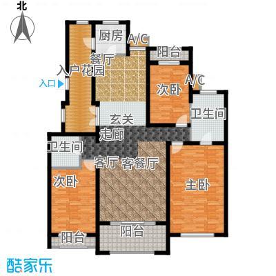 曦城花语160.00㎡电梯洋房户型3室2厅2卫X