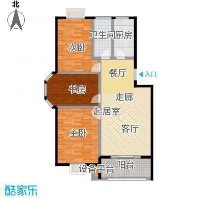 翡翠湾105.00㎡105平米三房户型3室1厅1卫