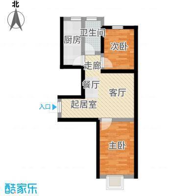 景城时代67.24㎡GC户型 二室一厅一卫户型2室2厅1卫