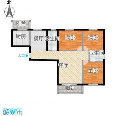 滨海国际125.00㎡H户型3室2厅2卫