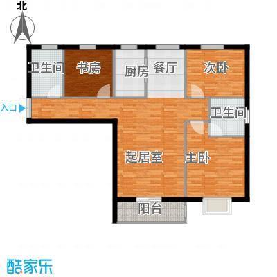 滨海国际127.44㎡D户型3室2厅2卫