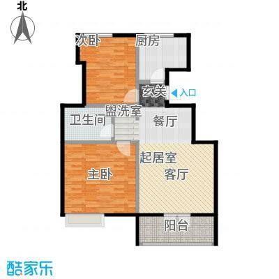 社会山201485.00㎡B5户型2室2厅1卫