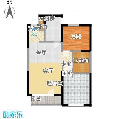 万科沈抚新城金域蓝湾88.00㎡高层 88平米 两室两厅一卫户型2室2厅1卫