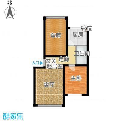 千禧名仕63.36㎡千禧名仕 户型图A2j 面积63.36平方米户型1室1厅1卫